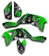 SUZUKI LTR450 R GRAPHICS DECAL KIT GRIM REAPER REVENGE Sticker LTR 450 GREEN