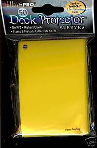100 CANARY YELLOW YUGIOH DECK PROTECTOR SLEEVES ULTRA PRO