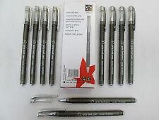 5 Estrellas Oficina Empuñadura Bolígrafo Negro x10 Trabajo/oficina/Colegio