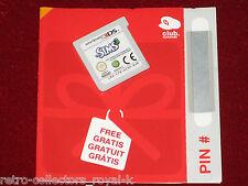 *New Cartridge* Nintendo 3DS Game THE SIMS 3 + Unused Nintendo Club Pin Card PAL