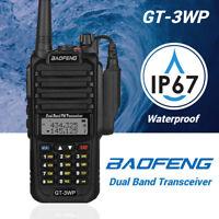 Baofeng GT-3WP Waterproof Dual Band VHF UHF Ham 5W Two-way Radio IP67 1800mAh