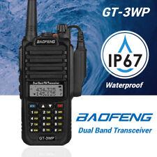 Baofeng GT-3WP Waterproof 2m/70cm VHF UHF Two-way Ham Radio IP67 1800mAh >BF-A58