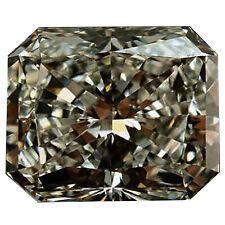 Loose Moissanite Diamond 4 Ring/Pendant 2.88 ct Vvs1/10.01Mm Gray Brown Radiant