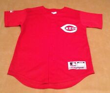 NWT Cincinnati Reds Youth Team MLB Majestic Red Mesh Short Sleeve Jersey Medium