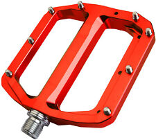 Burgtec Penthouse Flat Pedals Ti Axles - Red