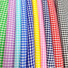 """Gingham 1/12"""" Wide Square Fabric 60"""" Wide Checkered Plaid Design By The Yard"""