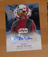 Topps STAR WARS Force Awakens Serie 2 Card Autograph MIKE QUINN NIEN Carte Rare