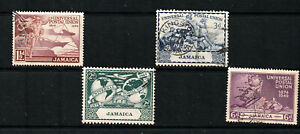 JAMAICA 1949 SET, ANNIV. OF U.P.U.   FU