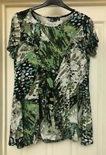 Isle Green Mix Smooth Feel Boho Tunic Top, Size 16 - Lovely!