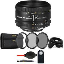 Nikon AF FX NIKKOR 50mm f/1.8D Prime Lens with Top Accessory Kit