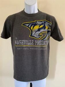 New Nashville Predators Youth Sizes S-L Gray Shirt