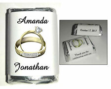 120 GOLD RINGS WEDDING FAVORS CANDY WRAPPERS FAVORS personalized