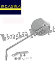 10827 - SPECCHIO TONDO CROMATO SINISTRO VINTAGE VESPA 125 150 200 PX ARCOBALENO