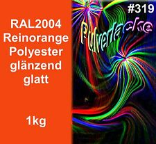 capa del polvo 1kg Polvo Para Recubrimiento ral2004 naranja naranja