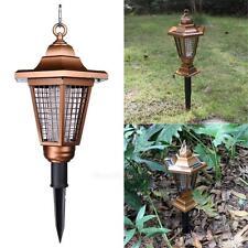 2 Led Light Uv Solar Powered Pest Bug Zapper Garden Insect Mosquito Killer Lamp