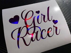 PINK OIL SLICK Girl Racer Heart Fast Car Sticker Decal JDM VDUB Drift Street