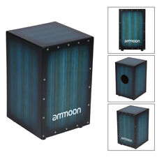 More details for wooden box drum cajon hand drum percussion instrument with 4 rubber feet w6a2