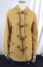 Ralph Lauren Jeans Co Tan Corduroy Hooded Toggle Duffle Coat Jacket M Beige L23