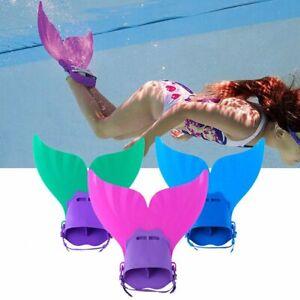 Kinder Meerjungfrau Flosse Mermaid Monoflosse Schwanz Schwimmflosse Bademode DHL