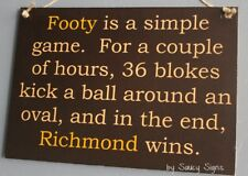 Simple Game Richmond Tigers 2017 Premiers Sign - Bar Shed Man Cave Office Signs