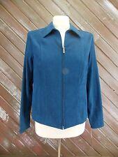 JM COLLECTION Jacket Deep Aqua Color Women's Size 6P NWT $59