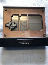 HARLEY DAVIDSON 110TH ANNIVERSARY LED LIGHTED DOUBLE SIDED PICTURE FRAME