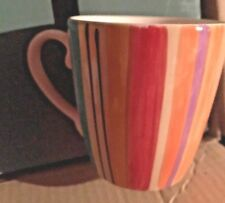 "NEW Pfaltzgraff EQUATOR Striped Coffee Mug 4"""