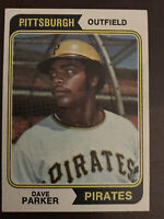 "DAVE ""THE COBRA"" PARKER ROOKIE 1974 TOPPS PITTSBURGH PIRATES RC BASEBALL CARD"