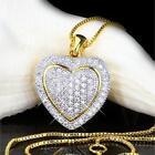 Collier Femmes Pendentif Cœur zirconium blanc plaqué or 750 18 carats A2798