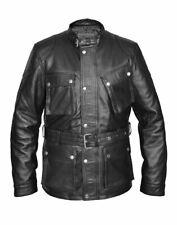 Bane Giacca Autentico COW Hide Leather lucidatura Marrone Trench Cavaliere Oscuro Sorge
