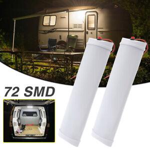 "11"" Car Interior Led Light Bar 10W 72 LED Lamp Van Lorry Truck Camper Caravan"