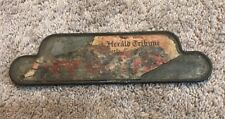 Vintage Cast Iron NEW YORK HERALD TRIBUNE Newspaper Stand Paper Topper Weight
