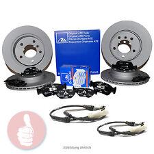 ATE Bremsscheiben 312 + 282mm + Beläge + Warnkontakt VORNE + HINTEN VW Audi Seat