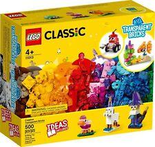 Lego Classic 11013 Creative Transparent Bricks new sealed 500 pieces freepost