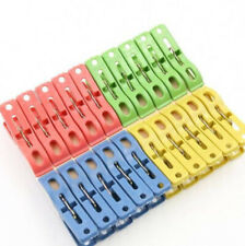 Plastic clips, clothes and papers clips, gentle and colorful 5 pcs