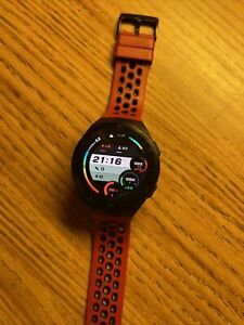 Huawei Watch GT 2E 46mm Black Metal Case with Red Silicone Band Smartwatch -...
