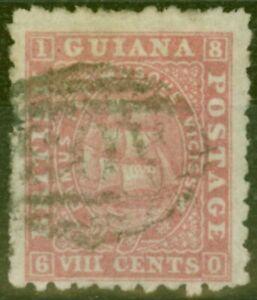 British Guiana 1871 8c Brownish Pink SG96 P.10 Fine Used