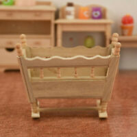 1:12 Scale Doll House Miniature Cradle Simulation Baby Doll Living Room Supplies