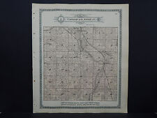 Wisconsin Lincoln County Map 1914 Bradley Township South, Road Lake, Wisc. River