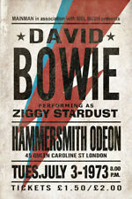David Bowie Poster Worn Version Ziggy Stardust Rare Large Concert Poster Bowie