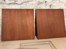 """Two Mahogany-veneered Panels 15"""" x 15"""": True Honduras Mahogany"""