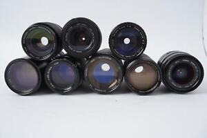 8x various zoom lenses, in need for some work and cleaning #2
