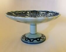 "Vintage Decorative Pedestal Fruit Basket Porcelain Stand 3"" Tall"