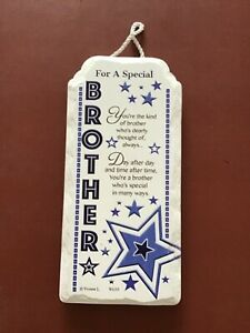 Special brother porcelain boxed gift hanging standing plaque free p&p