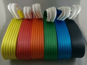NEW 2M 4X4 RECOVERY WINCH TOW/TOWING ROPE STRAPS TREE STROP 5 TON OFFROAD