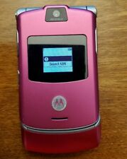 New ListingMotorola Razr V3 Pink T-Mobile Flip Razor Cell Phone tmobile Magenta bundle