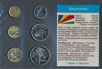 seychelles UNC coin set 2004-2007 1 cent until 5 Rupees (9030228