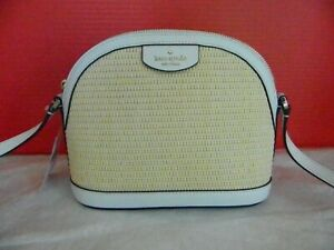 KATE SPADE NEW YORK SYLVIA STRAW EXTRA LARGE DOME CROSSBODY WKRU6956