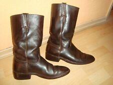 Sancho-Herrenstiefel-Lederstiefel-Boots - Gr.40,5 - echt Leder-dunklebraun