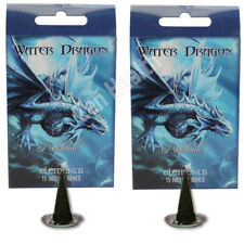 2 X WATER DRAGON PATCHOULI Incense/Fragrance/Joss Cones & Holder Insence/Insense